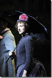 "Carmen Cusack as Dot, in Chicago Shakespeare Theater's ""Sunday in the Park with George"" by Stephen Sondheim, directed by Gary Griffin. (photo credit: Liz Lauren)"
