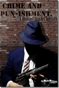 """The Murder Mystery Company's """"Crime and Pun-ishment"""" by Scott Cramton, directed by Justin Issa - now playing at Sopranos Restaurant in Chicago."""