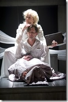 """Mary Beth Fisher and Rob Lindley star in Court Theatre's """"Angels in America"""" by Tony Kushner, directed by Charles Newell.  (photo credit: Michael Brosilow)"""
