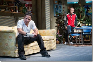 """John Ortiz and Gary Perez stars in Steppenwolf Theatre's """"The Motherf**ker with the Hat"""" by Stephen Adly Guirgis, directed by Anna D. Shapiro. (photo credit: Michael Brosilow)"""