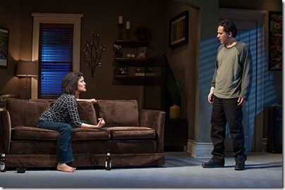 """Sandra Marquez and John Ortiz star in Steppenwolf Theatre's """"The Motherf**ker with the Hat"""" by Stephen Adly Guirgis, directed by Anna D. Shapiro. (photo credit: Michael Brosilow)"""