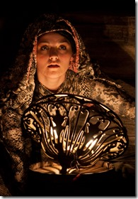 "Carolyn Molloy stars as Snake in TUTA Theatre Chicago's ""The Silent Language"" by Miodrag Stanisavljevic, directed by Jacqueline Stone. (photo credit: Anthony Robert La Penna)"