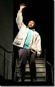 """Michael Henry stars in Next Theatre and Theatre and Interpretation Center's """"The Exonerated"""" by Jessica Blank and Erik Jensen, directed by Cat Miller.  (photo credit: Justin Barbin)"""