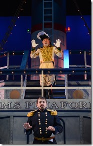 "Michael Cavalieri and James Harms star in Light Opera Work's ""H.M.S. Pinafore"" by Gilbert & Sullivan, directed by Rudy Hogenmiller. (photo credit: Chris Ocken)"