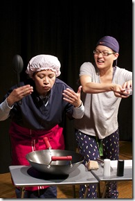 """Lovien """"Joey"""" Flores and Ramona Kywe star in A-Squared Theatre Workshop's """"Dead Dolls"""" by Lani T. Montreal, directed by Giau Truong. (photo credit: Marivi Ortiz)"""