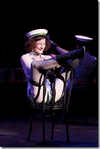 "Jenny Lamb stars as Sally Bowles in Light Opera Works' ""Cabaret"" by Kander and Ebb, directed by Stacey Flaster. (photo credit: Jasmin Shah)"