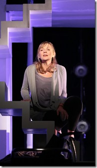 "Susie McMonagle stars in Drury Lane Theatre's ""Next to Normal"" by Tom Kitt and Brian Yorkey, directed by William Osetek. (photo credit: Brett Beiner)"