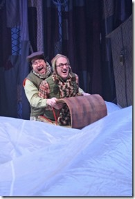 """Karl Hamilton and Mark David Kaplan star as Frog and Toad in Chicago Children Theatre's """"A Year with Frog and Toad"""" by Robert and Willie Reale, directed by Henry Godinez. (photo credit: Charles Osgood)"""