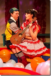 """Shawn Pfautsch and Emily Casey in """"The Mikado"""" by Gilbert and Sullivan, directed by Sean Graney. (photo credit: Matthew Gregory Hollis)"""