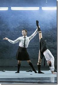 "Derrick Agnoletti and Aaron Rogers star in ""Episode 31,"" choreographerd by Alexander Ekman, part of Joffrey Ballet's ""Contemporary Choreographers"" program. (photo credit: Cheryl Mann)"