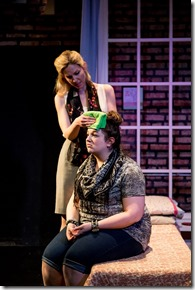"""Katherine Keberlein and Anne Joy star in Rivendell Theatre's """"Eat Your Heart Out"""" by Courtney Baron, directed by Hallie Gordon. (photo credit: Joe Mazza)"""