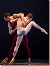 """Dylan Gutierrez and April Daly in """"Liturgy"""" by Christopher Wheeldon, part of Joffrey Ballet's """"New Works"""". (photo credit: Cheryl Mann)"""