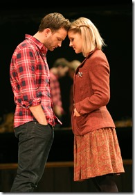 """Stuart Ward and Dani de Waal star as Guy and Girl in Broadway in Chicago's """"Once"""" by Glen Hansard, Markéta Irglová and Enda Walsh, directed by John Tiffany. (photo credit: Joan Marcus)"""