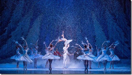 """Land of the Snow from Joffrey Ballet's """"The Nutcracker,"""" conceived and directed by Robert Joffrey. (photo credit: Cheryl Mann)"""
