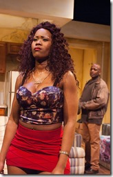 """AnJi White and Phillip Edward Van Lear star in TimeLine Theatre's """"Sunset Baby"""" by Dominique Morisseau, directed by Ron OJ Parson. (photo credit: Lara Goetsch)"""