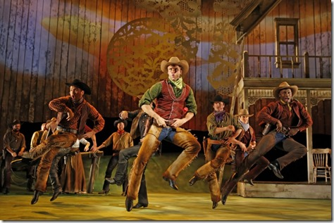 "Carl Draper plays Will Parker in Paramount Theatre's ""Oklahoma!"" by Rodgers and Hammerstein. (photo credit: Liz Lauren)"
