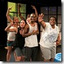 "Carmen Molina, Claudia DiBiccari, Mykele Callicutt, Paula Ramirez, Preston Tate Jr., Deanna Reed-Foster and James McGuire in Cold Basement Dramatics' ""Heat Wave""."