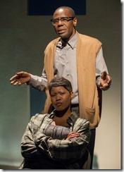 """Kenn E. Head and Anji White star in American Theater Co's """"The Project(s)"""" by P.J. Paparelli and Joshua Jaeger."""