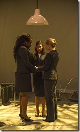 Echaka Agba, Alice da Cunha and Brenda Barrie in United Flight 232