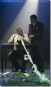 Patrick Du Laney and Andres Enriquez in Adding Machine, Hypocrites Theatre