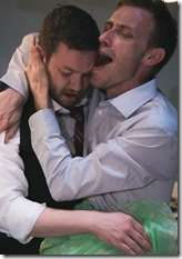 Gage Wallace and Kevin V. Smith in Taste by Benjamin Brand at Red Theater