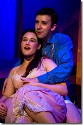 Emily Goldberg and Brian Fimoff as Isabel and Dusoleil in Amour, Black Button Eyes Productions