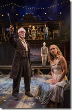 Larry Yando and Eva Louise Balistreiri in The Tempest, Chicago Shakespeare Theater
