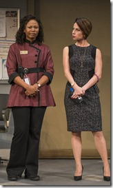Alana Arenas and Audrey Francis star as Millie and Eliza in The Fundamentals, Steppenwolf Theatre