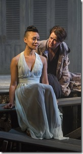 Emjoy Gavino and Kate Fry in Electra, Court Theatre