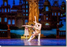Victoria Jaiani as and Miguel Angel Blanco star as Queen of the Fair and Great Impresario in The Nutcracker