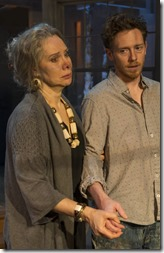 Barbara E. Robertson and Steve Haggard star as Annis and Evan in Winter, Rivendell Theatre