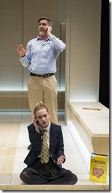 Nathan Hosner and Sophie Thatcher star as Jerry and Cathy in The Hard Problem, Court Theatre