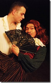 Javier Ferreira and Bryan Bosque star asWilliam Shakespeare and Christopher Marlowe in Her Majesty's Will