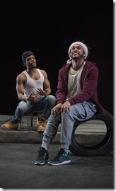 Jon Michael Hill and Julian Parker star as Moses and Moses in Pass Over, Steppenwolf Theatre 3