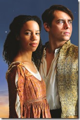 Emma Ladji and Nate Santana star as Juliet and Romeo at Chicago Shakespeare in the Park