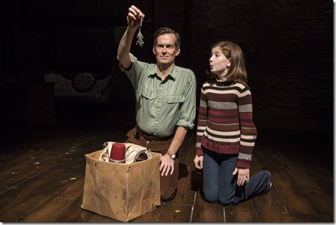 Rob Lindley (Bruce Bechdel) and Stella Rose Hoyt (Small Alison) star in Fun Home