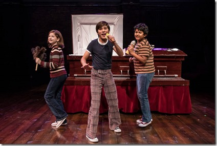 Stella Rose Hoyt, Leo Gonzalez and Preetish Chakraborty star in Fun Home, Victory Gardens Theater