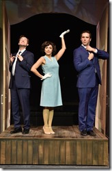 Matt Crowle, Aja Wiltshire and Jim DeSelm star in Merrily We Roll Along, Porchlight Music Theatre