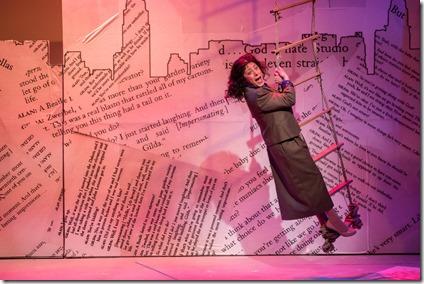 Dana Tretta stars as Gilda Radner in Bunny Bunny, A Sort of Love Story, Mercury Theater Chicago