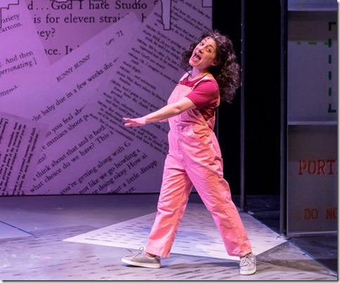 Dana Tretta stars as Gilda Radner in Bunny Bunny, A Sort of Love Story at Mercury Theater Chicago