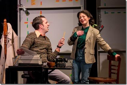 Jackson Evans as Alan Zweibel and Dana Tretta as Gilda Radner in Bunny Bunny, Mercury Theatre 2