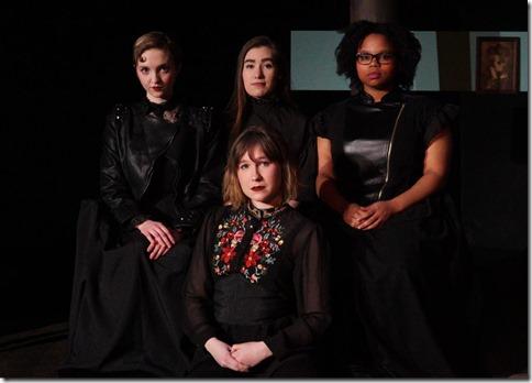 Kat Christensen, Nyssa Lowenstein, Ariana Silvan-Grau and Taylor Wisham star in Why Do You Always Wear Black
