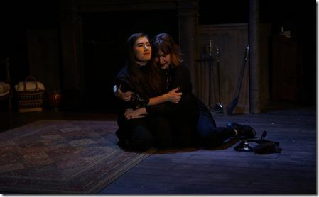 Nyssa Lowenstein and Ariana Silvan-Grau star in Why Do You Always Wear Black, Organic Theater Company