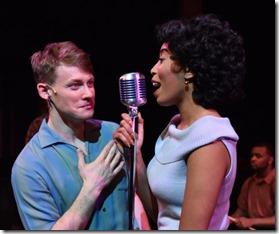 Liam Quealy and Aeriel Williams star as Huey Calhoun and Felicia Farrell in Memphis
