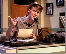 Liam Quealy stars as Huey Calhoun in Memphis at Porchlight Music Theatre