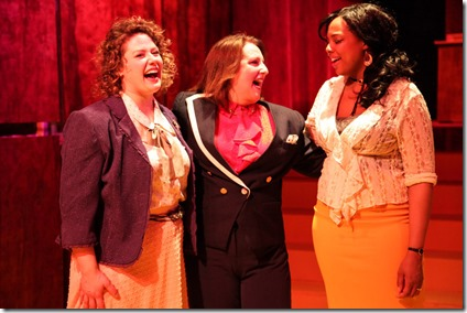 Sara Reinecke, Anne Sheridan Smith and Sharriese Hamilton star in 9 to 5, Firebrand Theatre