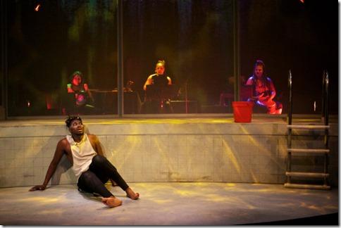 Gregory Geffrard, Joyce Liza Rada Lindsey, Coco Elysses and Melissa F. DuPrey star in Tilikum, Sideshow Theatre