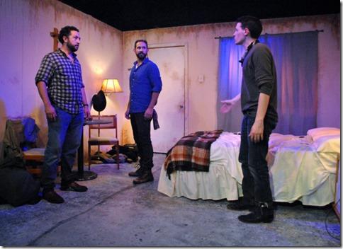 Guy Wicke, Joe Lino and Cody Lucas star as Shep, Lino and Luke in Tres Bandidos, Agency Theater Chicago