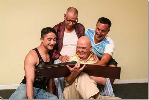 Jesse Montoya, Danne W. Taylor, Charles A. Berglund and Tom Chiola star in Hurrican Damage at Pride Arts