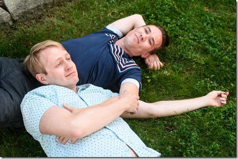 MIcah Kronlokken and Jude Hansen star in Holding the Man, Pride Films and Plays 2w